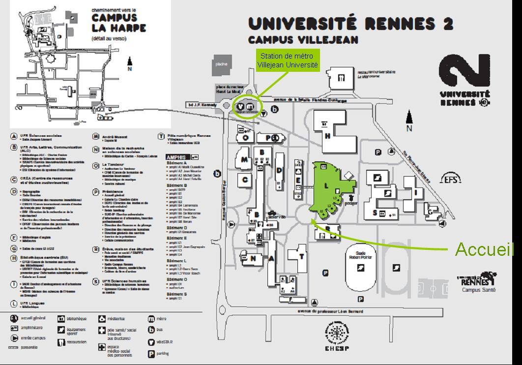 Plan Rennes 2 - Batiment L